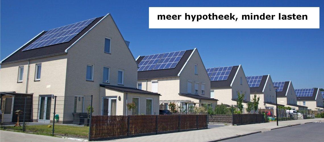 meer hypotheek, minder lasten